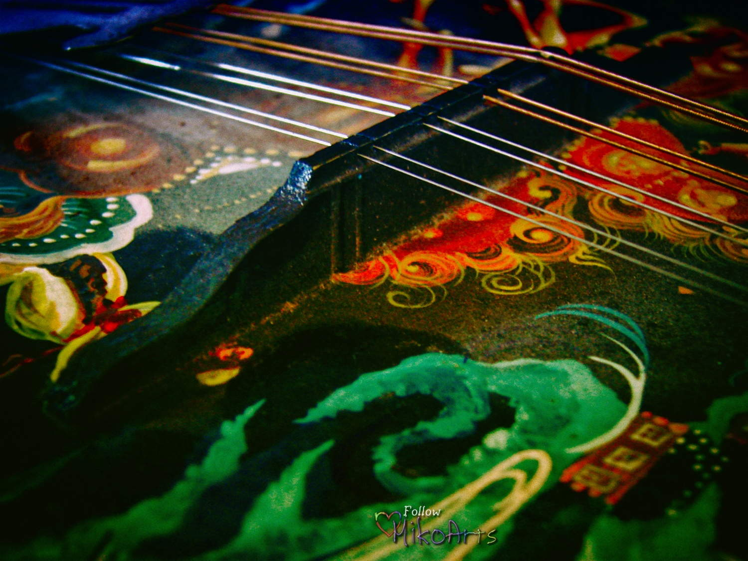 Photo Musical Instrument Mandolin Title is Divine Stage by Miko Zen MikoArts Copyright 2019 W
