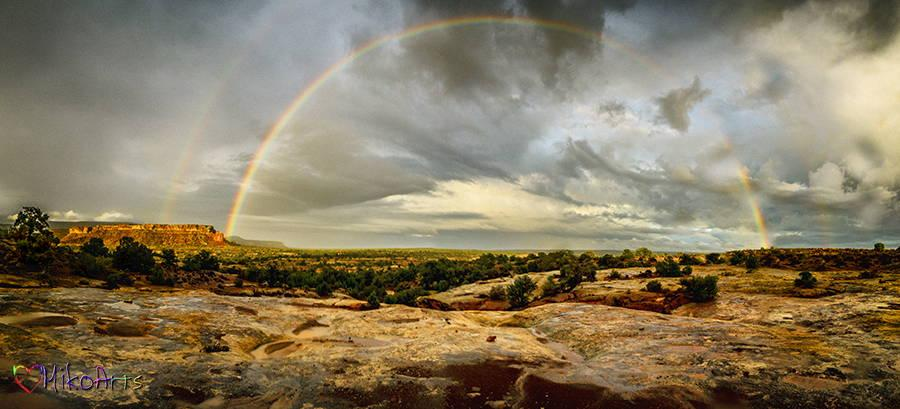 Canyonlands Double Rainbow Photo Art by Miko Arts A