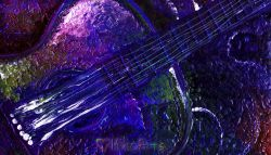 An Abstract Expressionist Guitar Painting, Play!